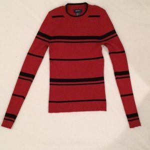 Black & rust orange stripe sweater